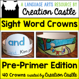 Sight Word Crowns with Pre Primer Words