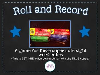 Sight Word Cube Activities - Set 1