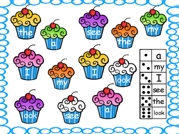 Sight Word Cupcake Roll & Cover