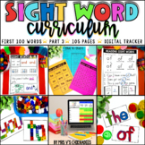 Sight Word Curriculum Part 3: First 100 Words