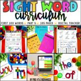 Sight Word Curriculum Part 5: First 100 Words