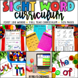 Sight Word Curriculum: The First 100 Words