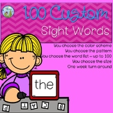 Sight Word Custom Pack - Up to 100 Words