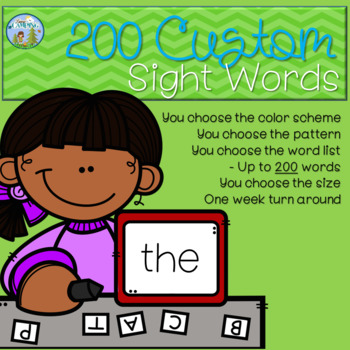 Sight Word Custom Pack - Up to 200 Words