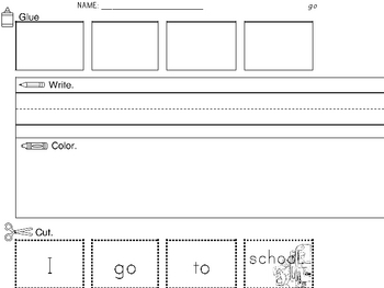 Sight Word Cut & Paste: 100 Worksheets/Words
