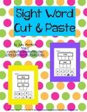 Sight Word Cut & Paste Activity