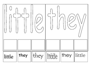 Sight Word-Cut & Paste-Fine Motor
