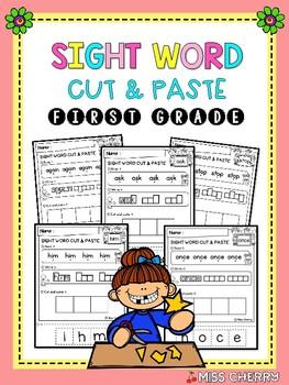 Sight Word Cut & Paste (First Grade) - Coronavirus (distance learning)