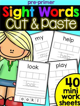 Sight Word Cut & Paste: Pre-Primer