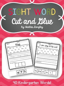 Sight Word Cut and Glue: Words and Sentences