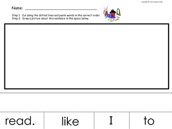 Sight Word Cut and Paste Practice