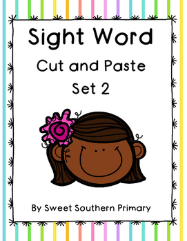 Sight Word Cut and Paste Set 2