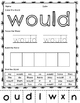 Sight Word Cut and Paste Set 3