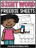 Sight Word Cut and Paste Sheets   FREE DOWNLOAD  