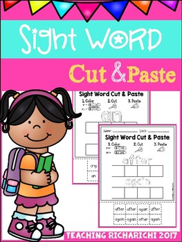 Sight Word Cut and Paste Worksheets (First Grade) by ...