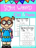 Sight Word Cut and Paste Worksheets (Pre-Primer) Coronavirus Distance Learning