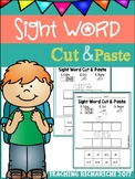 Sight Word Cut and Paste Worksheets (Primer) Coronavirus Distance Learning