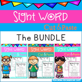 Sight Word Cut and Paste Worksheets (The Bundle)
