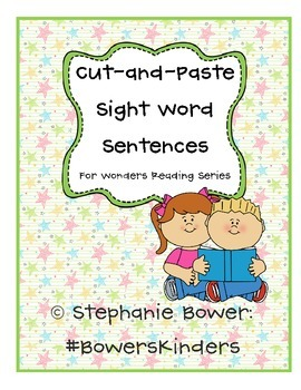 Sight Word Cut-and_Paste for Wonders Reading Series
