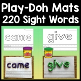 Sight Word Playdough Mats for the entire Dolch list {220 Pages!}