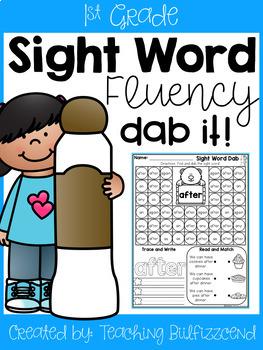 Sight Word Fluency Dab It (Set 3)