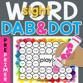 Sight Word Dab n' Dot Sheets: Dolch 220 PrePrimer
