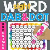 Sight Word Dab n' Dot Sheets: Dolch 220 PrePrimer