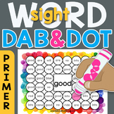 Sight Word Dab n' Dot Sheets: Dolch 220 Primer