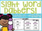 Sight Word Dabbers