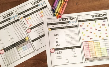 Sight Word Daily Practice: FREEBIE