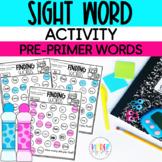 Kindergarten Sight Word Activities   Sight Word Daubers Kindergarten Printables