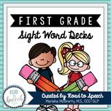 Sight Word Decks {First Grade}