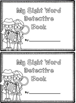 Sight Word Dectective - Locating sight words within text