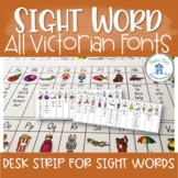 Sight Word Desk Strip Aus Fonts