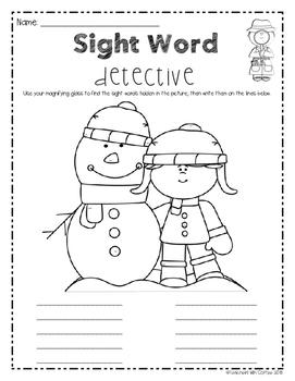 Sight Word Detective - Christmas Edition