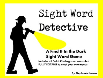 Sight Word Detective Game