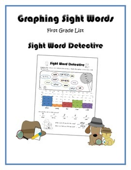 Sight Word Detective Graphing (Dolch First Grade List)