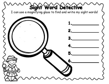 Sight Word Detective Jumbo Pack