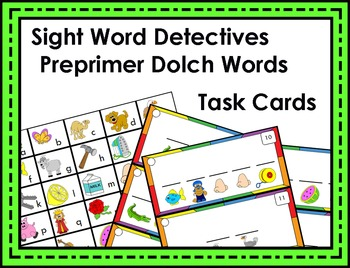 Sight Word Detective Task Cards