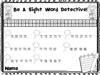 Sight Word Detectives