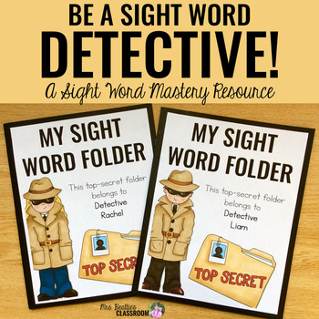 Sight Word Detectives: A Sight Word Fluency Resource