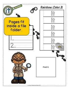 Sight Word Detectives File Folder Activity - Dolch Pre-Primer Word - It