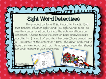 Sight Word Detectives! {Fry List 101 - 200}