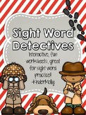 Sight Word Detectives - Kindergarten Pre-Primer Sight Word Worksheets