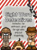 Sight Word Detectives - Kindergarten Pre-Primer Sight Word