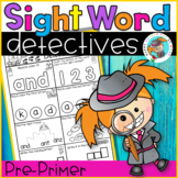 Sight Word Printables (Detective theme: Pre-Primer Edition)