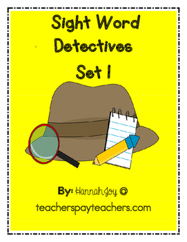 Sight Word Detectives Set 1
