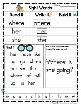 Sight Word Detectives Set 2