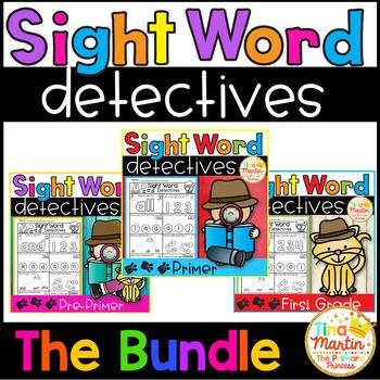 Sight Word Printables (Detecitve theme: Bundle)