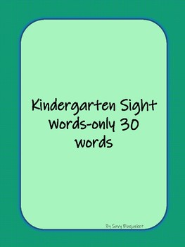 Sight Word Dice Game